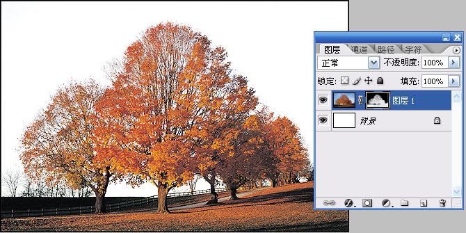 PS通道抠图实例教程:天空换背景