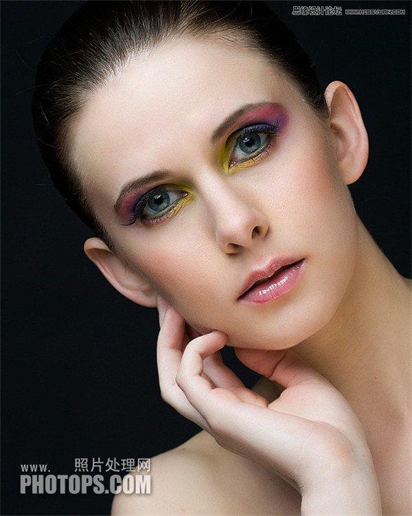 PS怎么精修模特图片,商业案例磨皮详细流程步骤