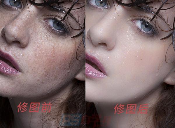 PS通过通道精修脸部美白美女照片教程
