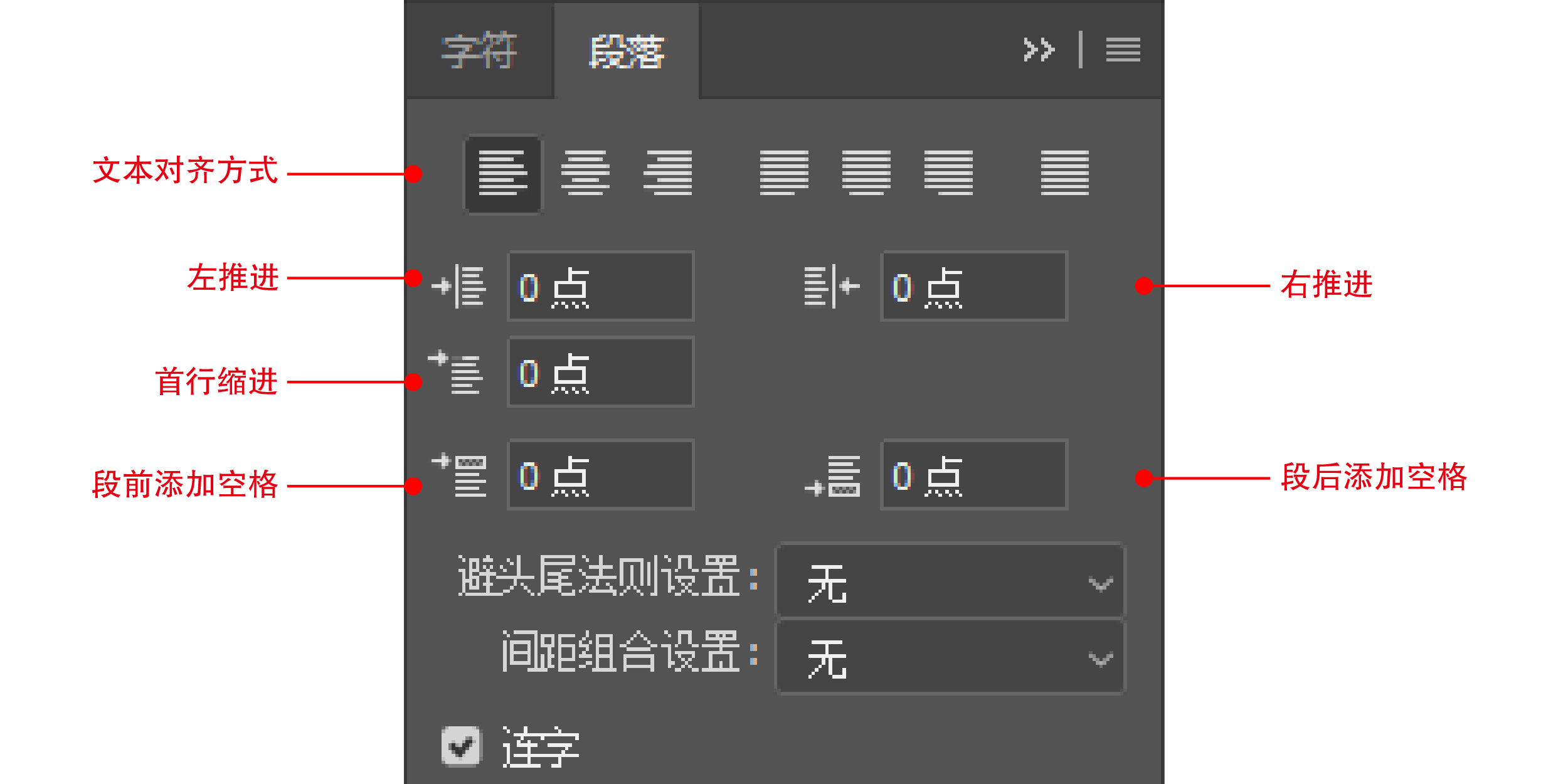 PS字符和段落应用区别有哪些?