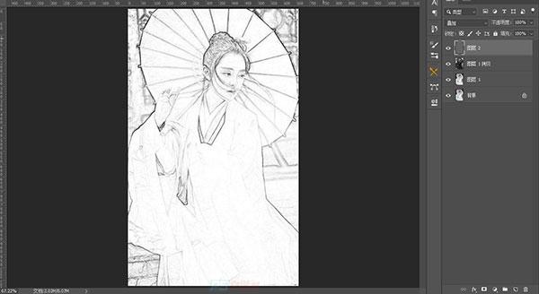 PS将普通照片转成手绘素描图案例教程