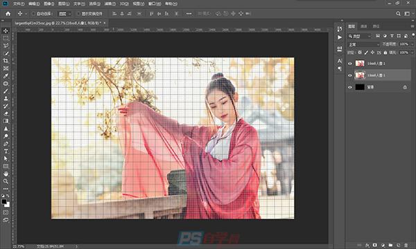 PS制作编织效果照片的教程