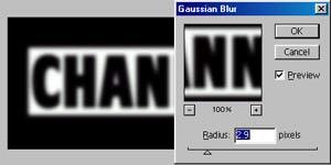 使用PS通道创建简单3D立体字效果