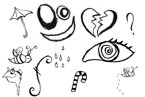 PS笔刷下载  可爱的卡通生活元素涂鸦笔刷