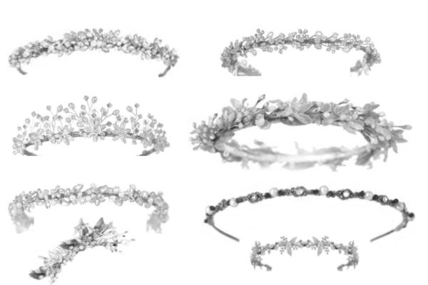 PS笔刷下载  女性首饰皇冠、发卡、发簪等装扮笔刷
