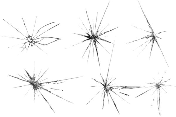 PS笔刷下载  玻璃裂痕效果笔刷