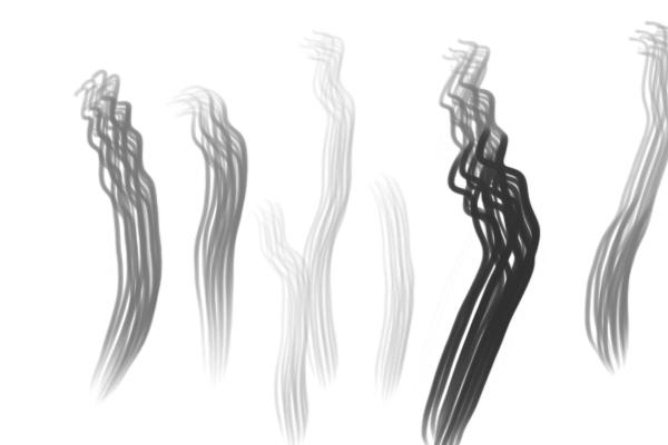 PS笔刷下载  5种自定义PS毛发笔刷