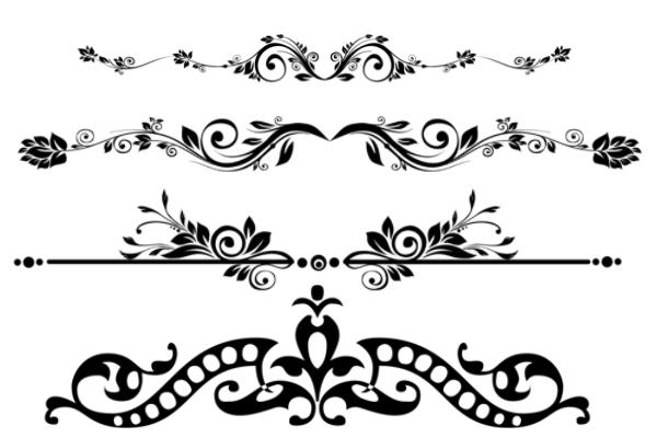 PS笔刷下载  高贵的植物花纹、图案装饰、墙壁墙纸、印花图案笔刷