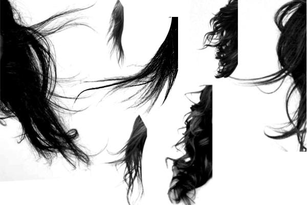 PS笔刷下载  黑色的长发发型笔刷