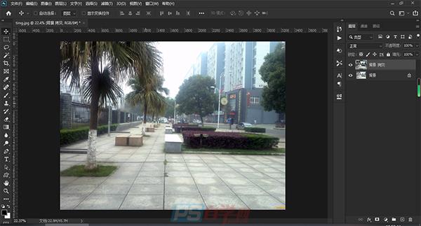 照片处理  PS一秒去除图片灰暗效果