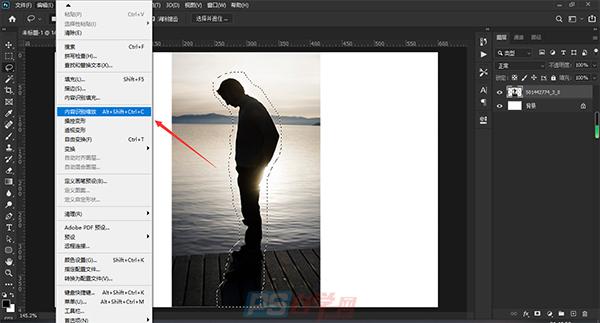 图片处理  PS拉伸图片人物不变形