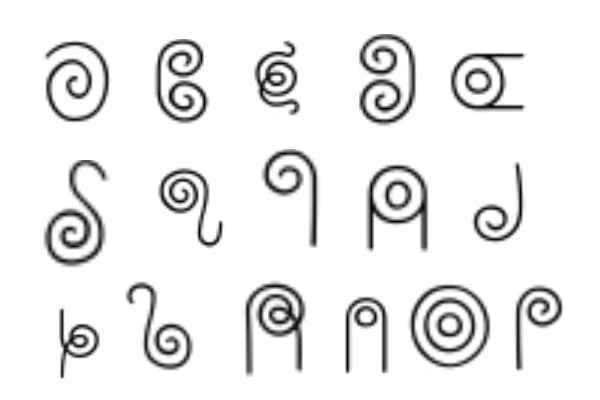 PS笔刷下载  一组魔法符文字符图案笔刷