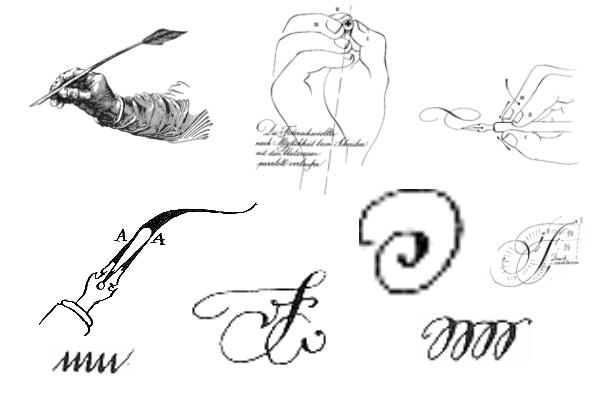 PS笔刷下载  优雅的线条涂鸦文字笔刷