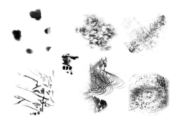 PS笔刷下载  经典的CG绘画艺术创作套装笔刷