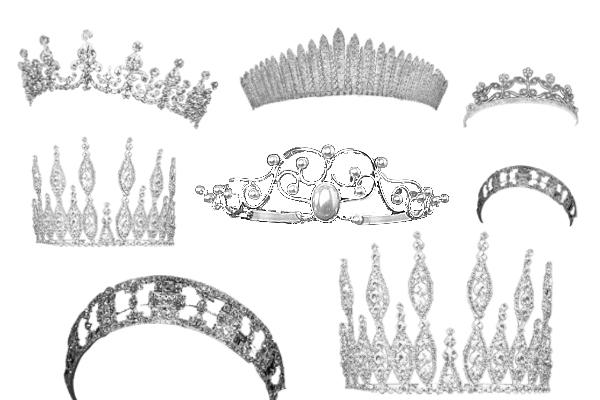 PS笔刷下载  国外砖石皇冠饰品笔刷