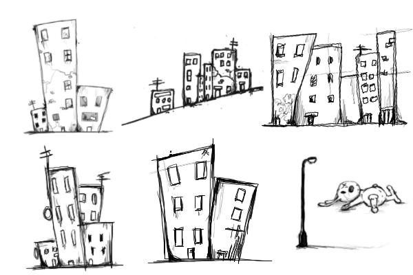 PS笔刷下载  城市元素笔刷