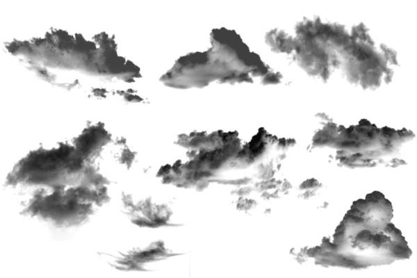 PS笔刷下载  天空中的白云、光照效果笔刷