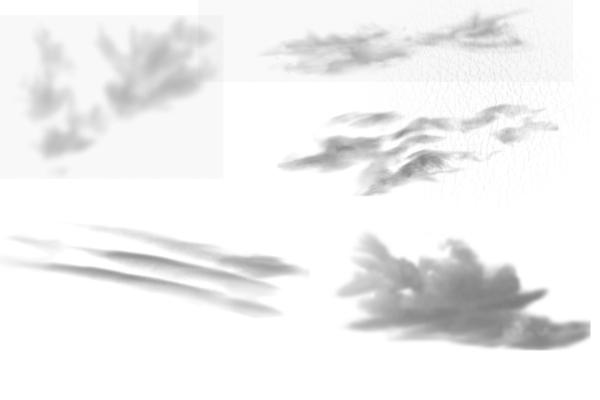 PS笔刷下载  天空白云效果、真实云层笔刷
