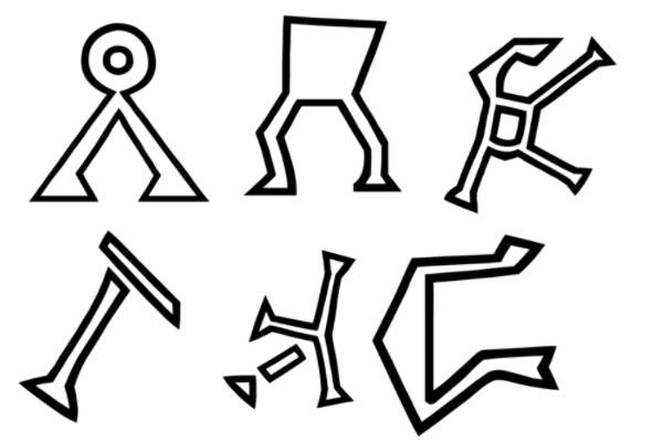 PS笔刷下载  奇异部落文字图形
