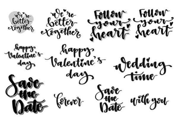 PS笔刷下载  情人节英文标语笔刷