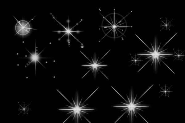 PS笔刷下载  星光、星耀图形笔刷