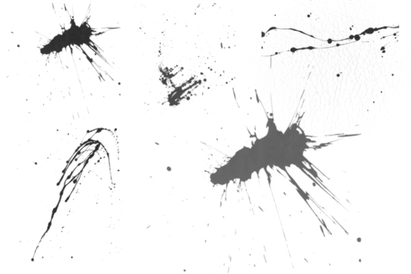 PS笔刷下载  浓稠液体挥溅、滴溅、溅射效果笔刷