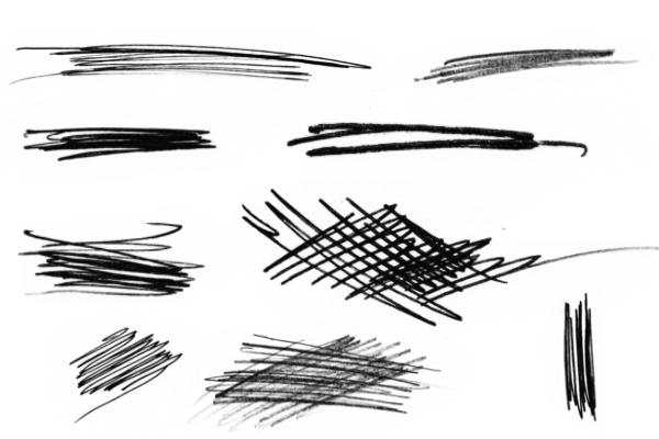 PS笔刷下载  潦草的笔迹痕迹笔刷