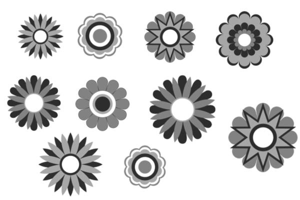 PS笔刷下载  矢量花朵、花纹、印花图案笔刷