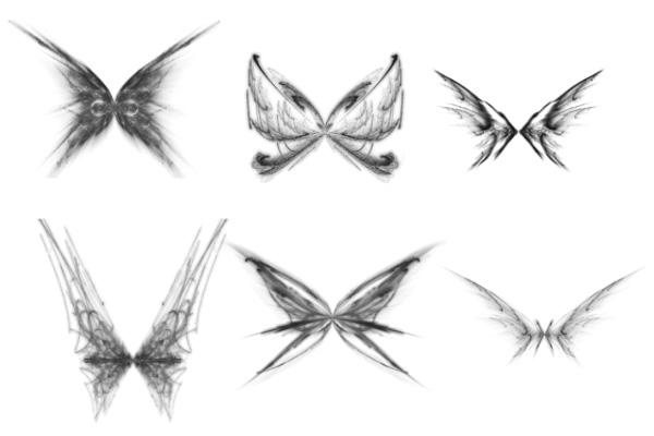 PS笔刷下载  绚丽光影蝴蝶图案笔刷