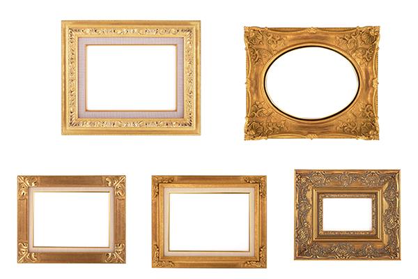 PS笔刷下载  精美的镶金边框图案、贵族画框(PNG透明素材)