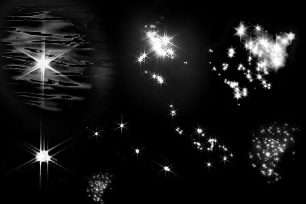PS笔刷下载  闪烁的星光、波光嶙峋笔刷