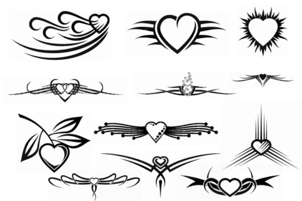 PS笔刷下载  非主流爱心图案装饰情人节心形笔刷