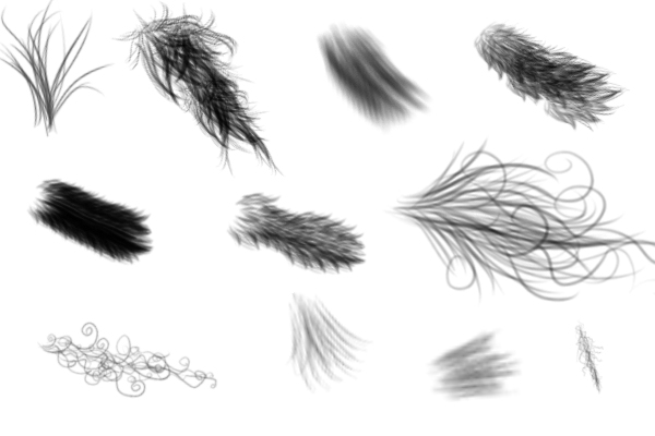 PS笔刷下载  高级皮毛套装、绒毛纹理材质笔刷