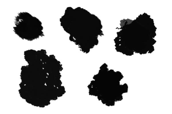 PS笔刷下载  5种涂抹效果笔刷