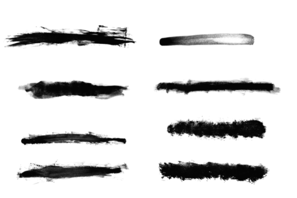 PS笔刷下载  水墨、油漆笔触、画笔纹理笔刷