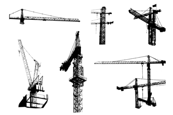 PS笔刷下载  城市建设塔吊工程建筑笔刷
