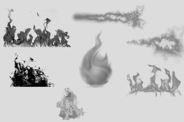 PS笔刷下载  大火、烈火、熊熊火焰笔刷