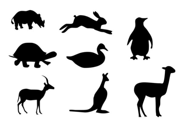 PS笔刷下载  大象、乌龟、飞鸟、马图案笔刷