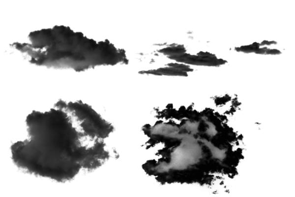 PS笔刷下载  天空云彩背景笔刷