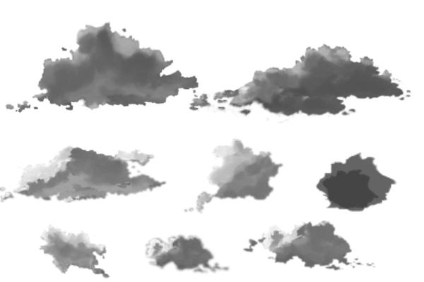 PS笔刷下载  天空云朵、云彩图形笔刷