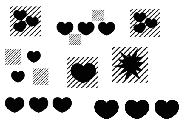PS笔刷下载  情人节爱心、七夕节心形图案笔刷