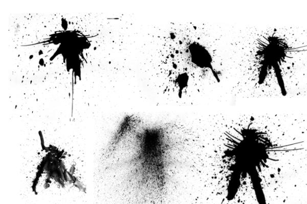 PS笔刷下载  油漆、水墨液体滴溅痕迹笔刷