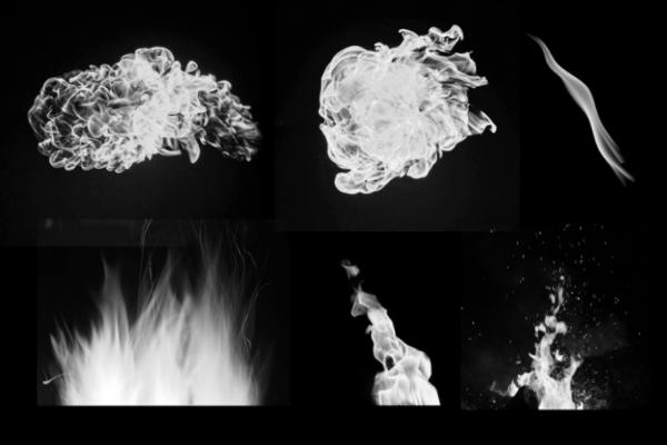 PS笔刷下载  熊熊火焰特效、燃烧的火焰火苗图形