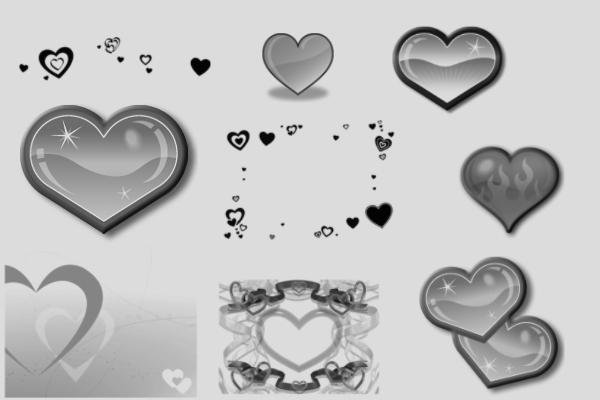 PS笔刷下载  爱心、心形、恋爱元素笔刷