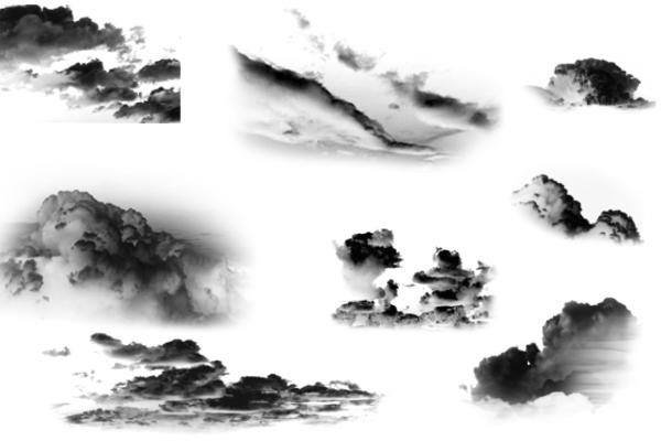 PS笔刷下载  白云、云朵、云层笔刷