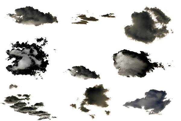 PS笔刷下载 白云背景图形(PNG格式)