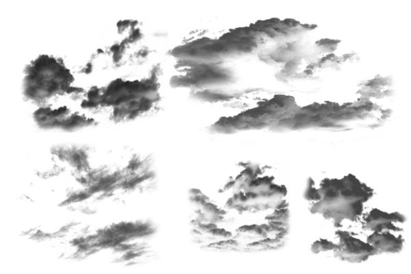 PS笔刷下载  真实蓝天白云效果笔刷
