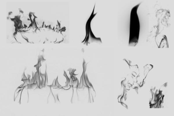 PS笔刷下载  着火、火焰、火苗纹理笔刷
