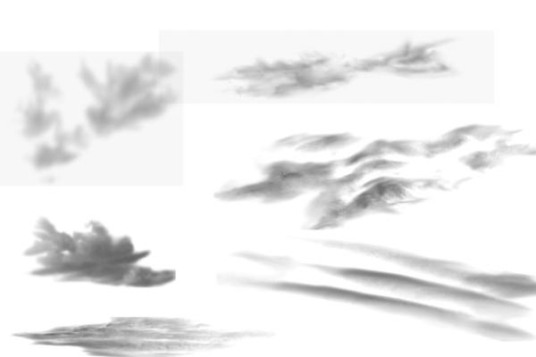 PS笔刷下载  蔚来的天空白云效果、真实云层纹理