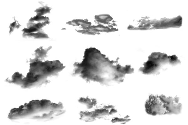 PS笔刷下载  逼真度超高的云朵笔刷